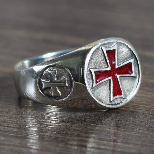 Iron Cross Ring Red Iron Cross Nazi Ring