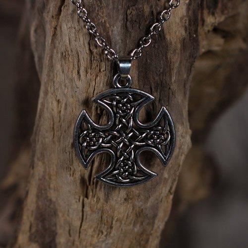 German Iron Cross Pendant and Viking Knot