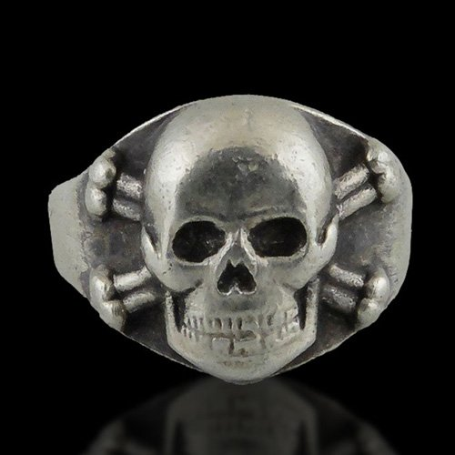 German Skull Ring - Death Head Ring Nazi Skull and Crossbones