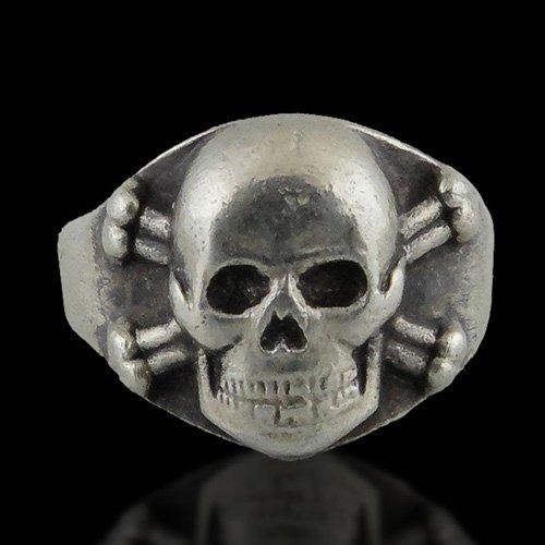 German Skull Ring - Death Head Ring Nazi Skull and Crossbones