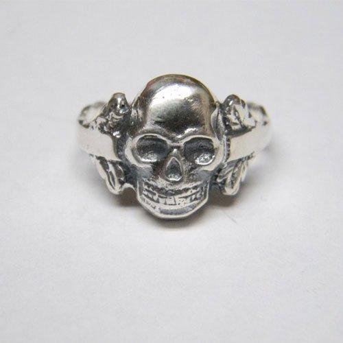 German Skull Ring Skull and Bones
