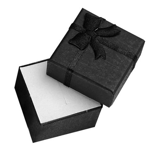 Cardboard Ring Box with Ribbon 4x4x3cm