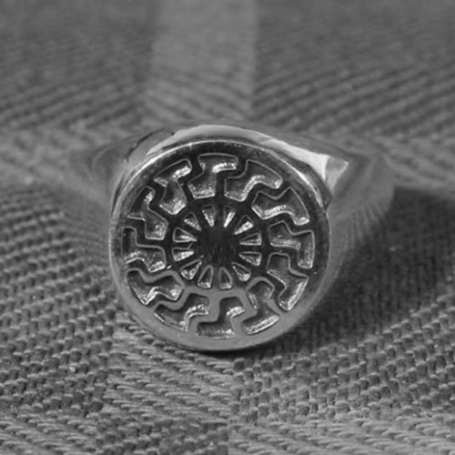 German Black Sun Ring Kolovrat Nazi Ring