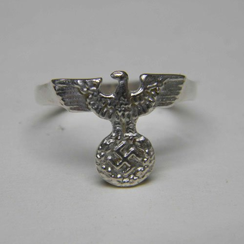 German Nazi NSDAP Ring with Swastika and Eagle