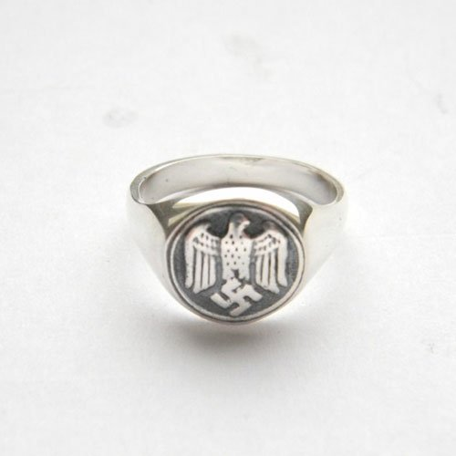 NSDAP Ring Nazi Eagle and Swastika