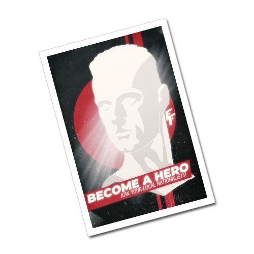 Nazi Propaganda Artwork Greeting Card Postcard - Become A Hero