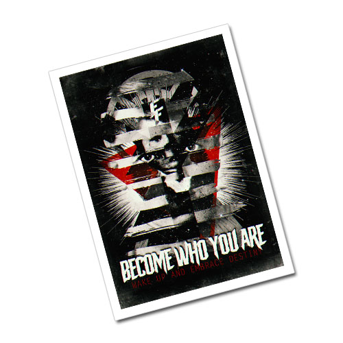 Nazi Propaganda Artwork Greeting Card Postcard - Become Who You Are