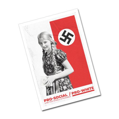 Nazi Propaganda Artwork Greeting Card Postcard - Better World