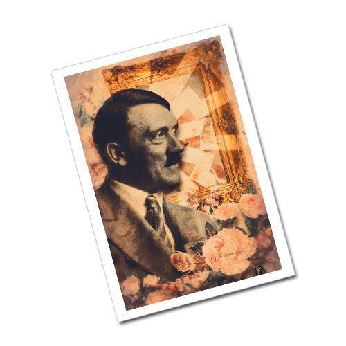 Nazi Propaganda Artwork Greeting Card Postcard - Flowers For Hitler