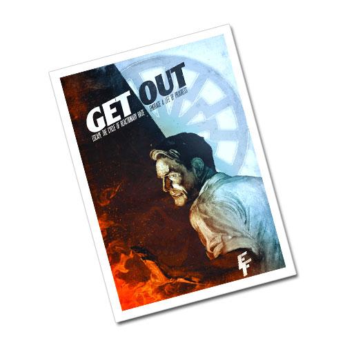 Nazi Propaganda Artwork Greeting Card Postcard - Get Out