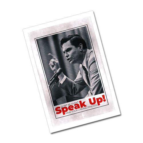 Nazi Propaganda Artwork Greeting Card Postcard - Speak Up