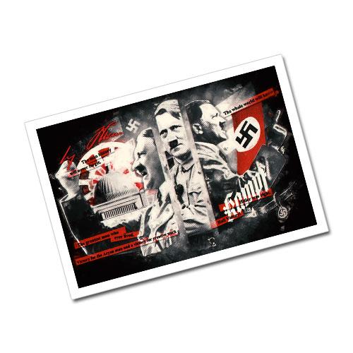 The Greatest Man Who Ever Lived Nazi Propaganda Artwork Greeting Card Postcard