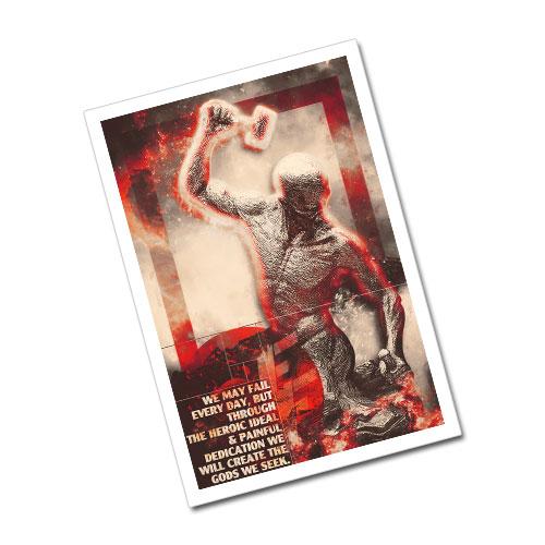 Nazi Propaganda Artwork Greeting Card Postcard - The Heroic Ideal