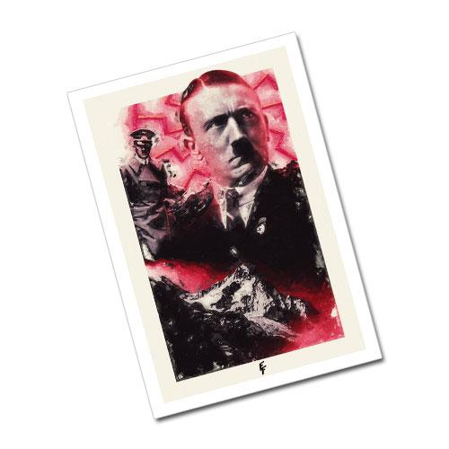 Nazi Propaganda Artwork Greeting Card Postcard - The Unwavering