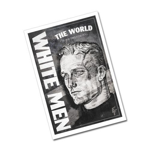 Nazi Propaganda Artwork Greeting Card Postcard - The World Is Waiting