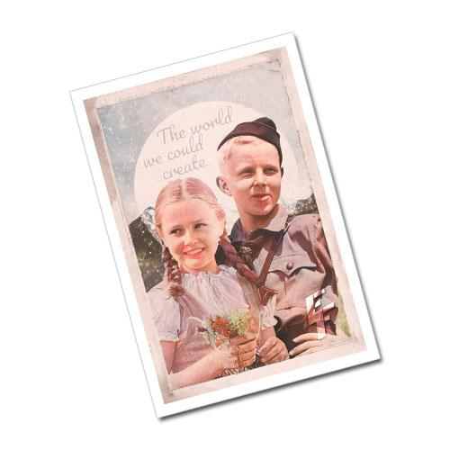 Nazi Propaganda Artwork Greeting Card Postcard - The World We Could Create