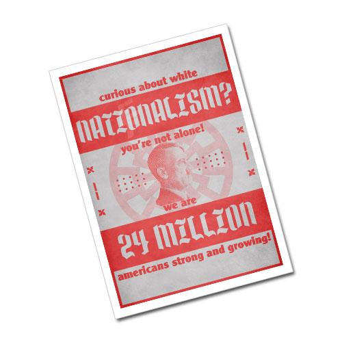 Nazi Propaganda Artwork Greeting Card Postcard - White Nationalism