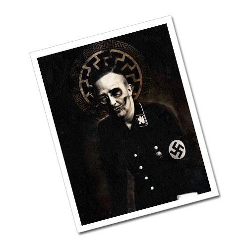 Greeting Card Postcard Heinrich Himmler Black Sun