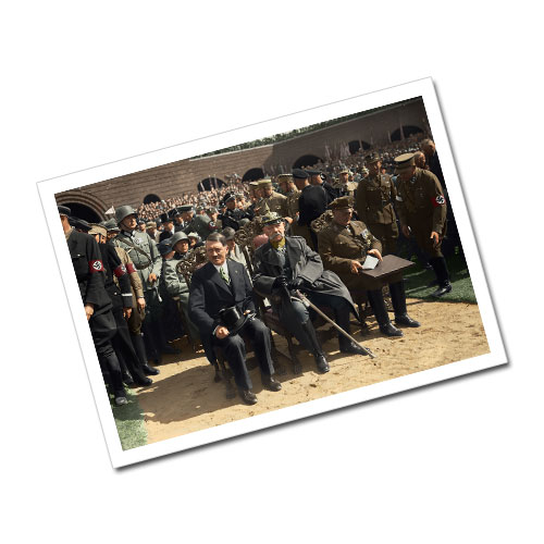 Adolf Hitler, Paul Von Hindenburg, Hermann Goering - Memorial Celebration Greeting Card Postcard