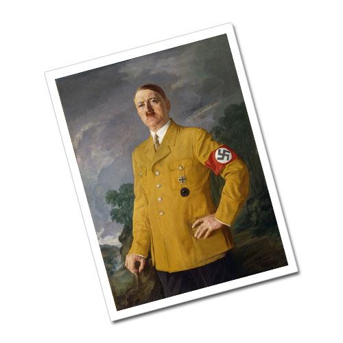 "Portrait of Adolf Hitler Heinrich Knirr ""Führerbildnis"" (1937) later copy Greeting Card Postcard"