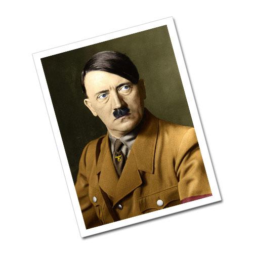 Portrait of Adolf Hitler Greeting Card Postcard