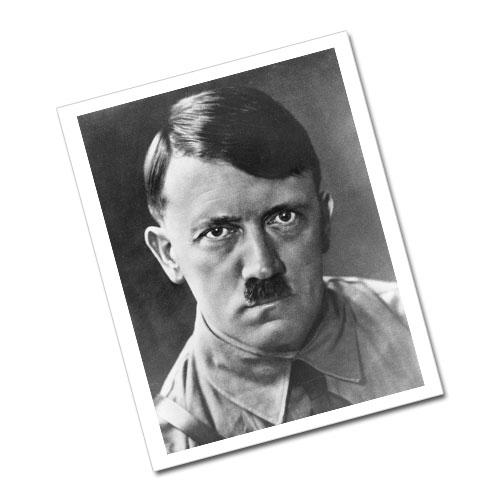 Portrait of Adolf Hitler Greeting Card Postcard Black and White 2