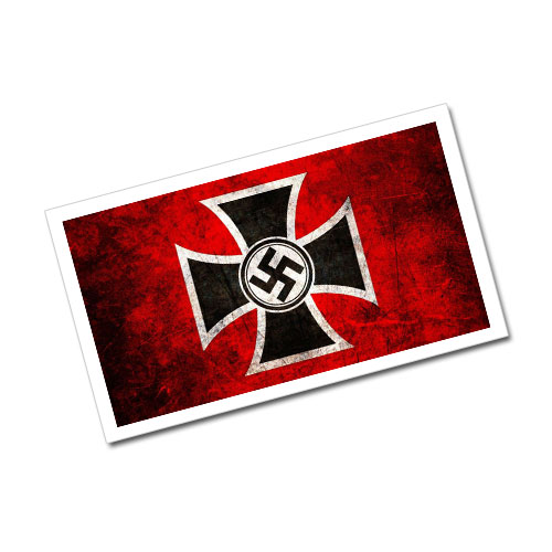 Greeting Card Swastika and Iron Cross Third Reich Theme Stylized Postcard