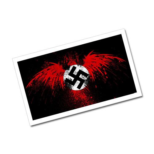 Swastika Imperial Eagle Third Reich Theme Greeting Card Postcard