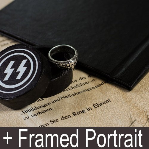 SS Totenkopf Ring, Book SS Laws and Portrait of Heinrich Himmler - set of 5 pct