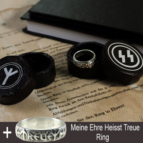 SS Totenkopf Ring, Meine Ehre Heisst Treue Ring and Third Reich Books Collection - set of 7 pcs