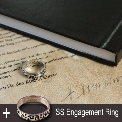 SS Totenkopf Ring, Third Reich SS Engagement Ring and a Book - set of 4 pcs