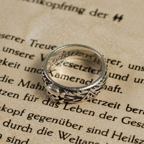 SS Totenkopf Rings and Letters signed by Heinrich Himmler - set of 6 pcs