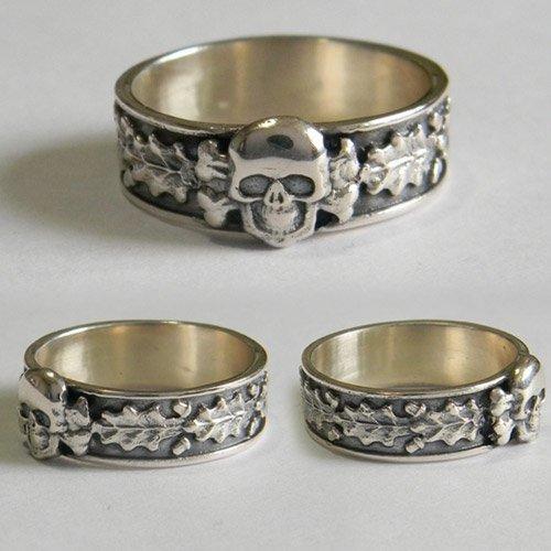 SS Totenkopf Ring Death Head Ring Type II
