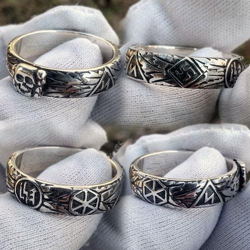 SS Totenkopf Ring Ehrenring Replica SS Honour Ring