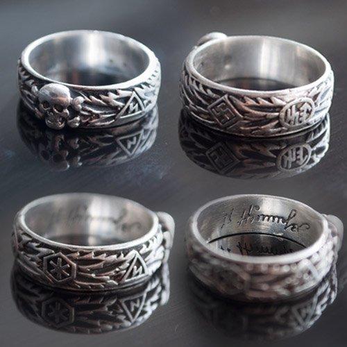 SS Totenkopf Ring Ehrenring Replica SS Honour Ring Size USA 4-8