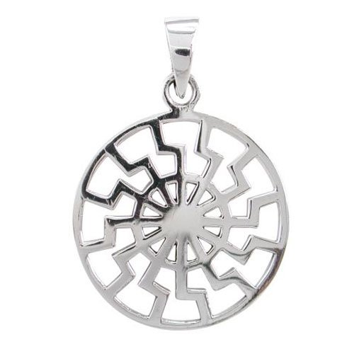 Black Sun Pendant German Sun Wheel
