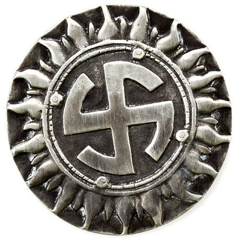 Third Reich Sun Wheel Badge German Swastika