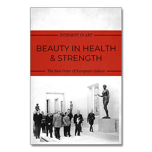 Nazi Propaganda Artwork Canvas Print - Beauty In Health