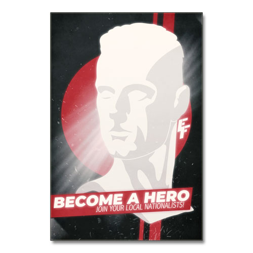 Nazi Propaganda Artwork Canvas Print - Become A Hero