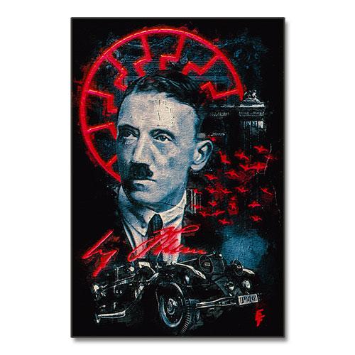 Nazi Propaganda Artwork Canvas Print Classic Futurism