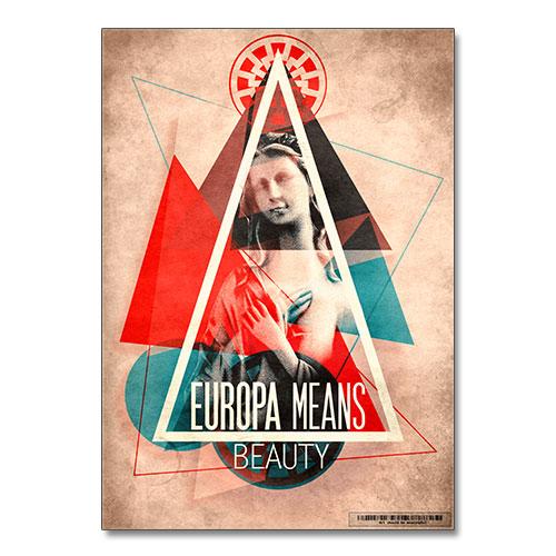 Nazi Propaganda Artwork Canvas Print - Europa Means Beauty