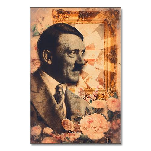 Nazi Propaganda Artwork Canvas Print Flowers For Hitler