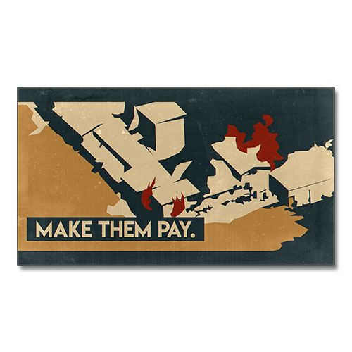 Nazi Propaganda Artwork Canvas Print - Make Them Pay