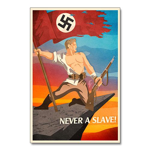 Nazi Propaganda Artwork Canvas Print - Never a Slave