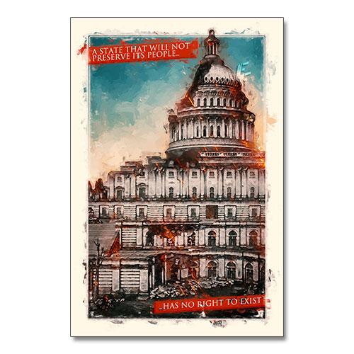 Nazi Propaganda Artwork Canvas Print - State