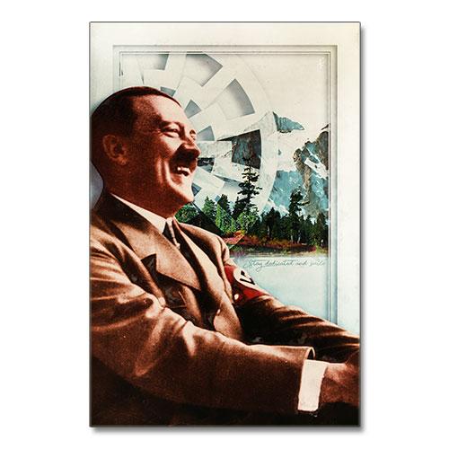 Nazi Propaganda Artwork Canvas Print Stay Dedicated and Smile