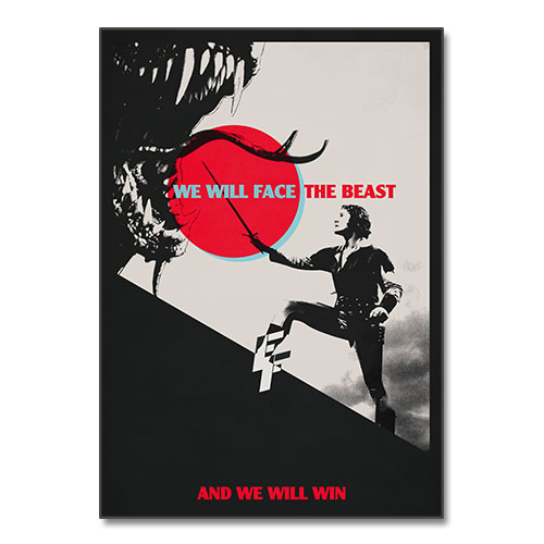 Nazi Propaganda Artwork Canvas Print - The Beast