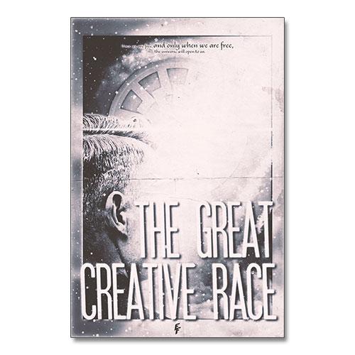 The Great Creative Race Nazi Propaganda Artwork Canvas Print