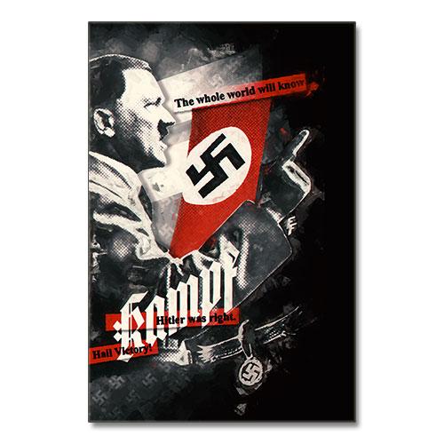 The Whole World Will Know Nazi Propaganda Artwork Canvas Print