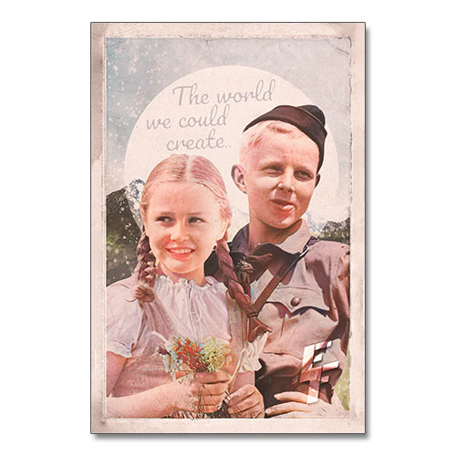 Nazi Propaganda Artwork Canvas Print - The World We Could Create